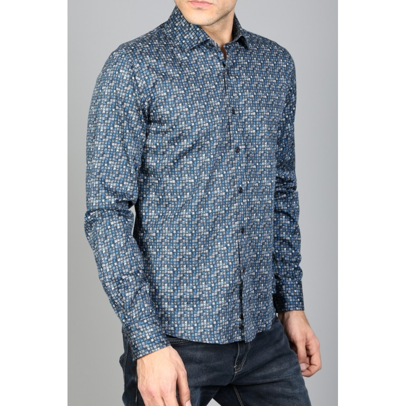 Рубашка мужская ENRICO BELENO 15955 PRINTING
